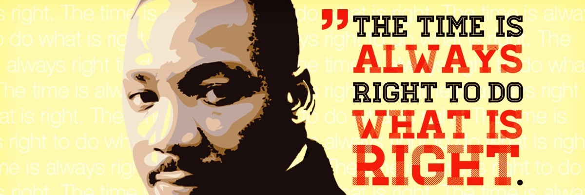 the tie is always right to do what is right - MLK
