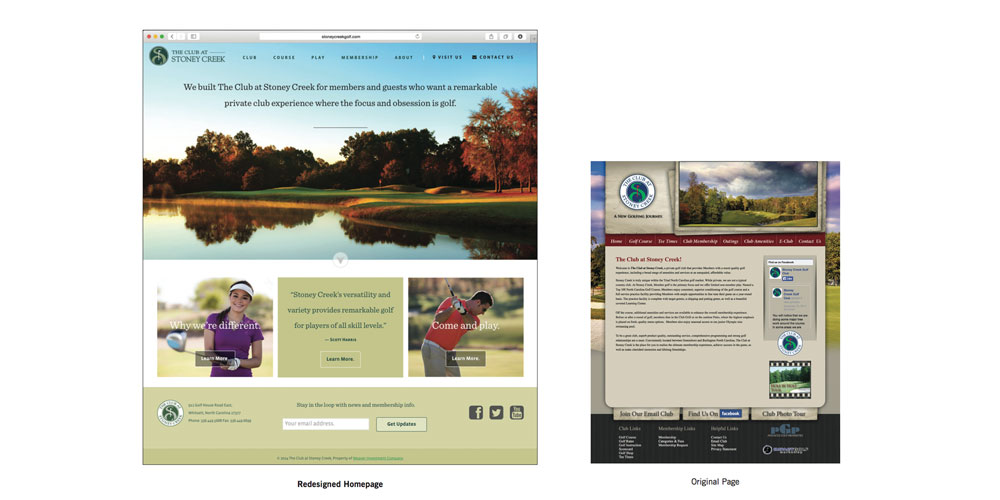 Stoney Creek Website re-design