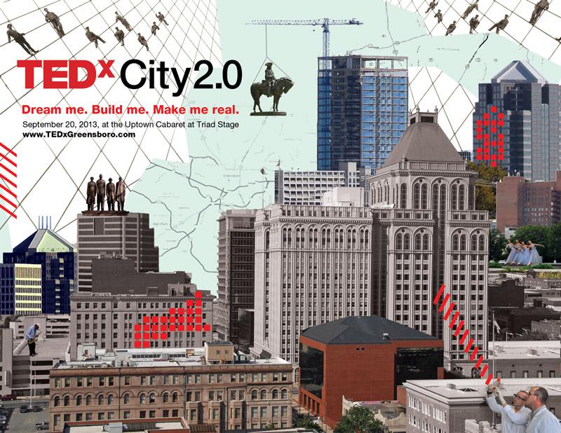 TEDxCity2.0 Greensboro Design