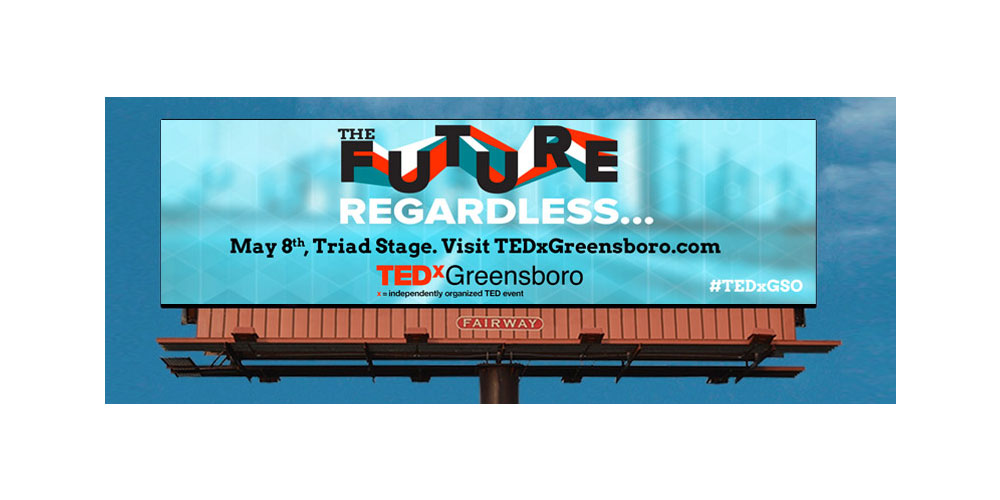 TEDxGreensboro 2014 billboard